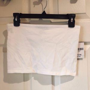 White Plus-Size Seamless Bralette